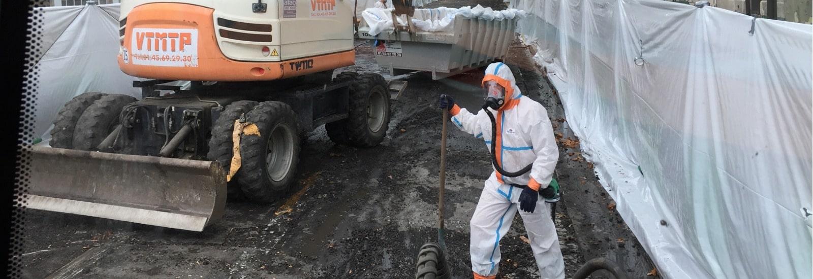 Désamiantage routier Unité Mobile de décontamination